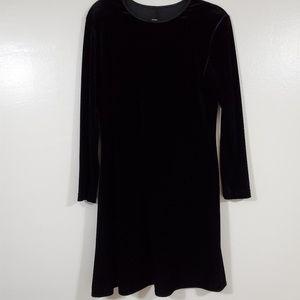 VINTAGE Velvet Little Black Dress Size 10